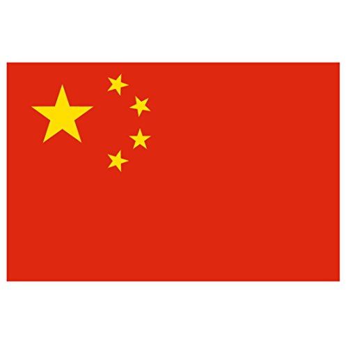 Chinese Flag Reflective Decal   Flag Of China   Five Inch Wide Full Color Decal  For Indoor Or Outdoor Use   Full Color Decal On 3M Reflective Material