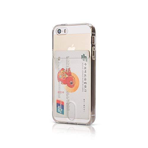 Wormcase Kunststoffhülle mit Kartenfach kompatibel mit iPhone 5 – 5S - SE - Farbe Transparent - TPU Schale Back-Cover Schutz-