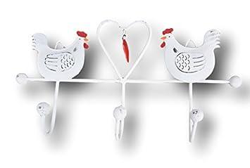 Sass & Belle 3 Gancho de Pared pájaro Blanco Metal Ganchos ...