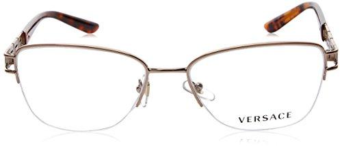 2154f9efb9b9ef Versace Montures de lunettes 1220B Pour Femme Gold 52mm 1052 ...