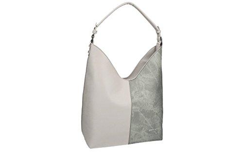 Borsa donna a spalla PIERRE CARDIN grigio con apertura zip VN1273
