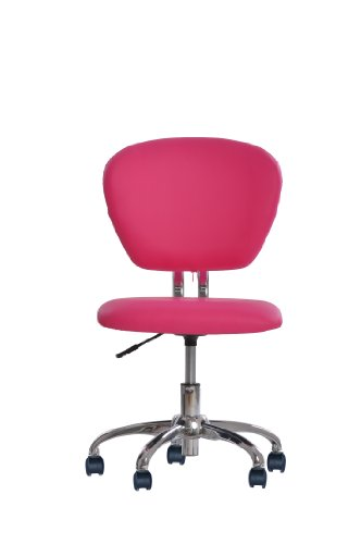 new pink pu leather mid back task chair office desk task chair h20
