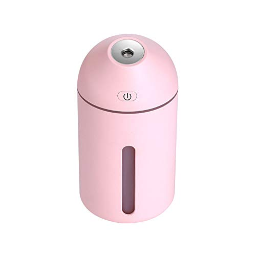 Surprise-Show USB Interface Air Humidifier Ergonomic Spray Angle Vehicle Office Home Car Humidifier,Pink