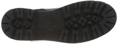 Tommy Hilfiger Damen Reflective Detail Biker Boot Stiefeletten, Schwarz (Black 990), 38 EU 4