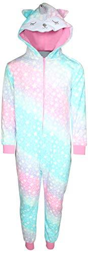 Sleep On It Girl\'s Micro Fleece Onesie Pajamas with Character Hood (Shimmer Glitter Unicorn, 10/12)' for $<!--$39.99-->
