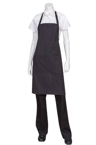 Chef Works Unisex Butcher Apron with Contrasting Ties, Pinstripe, One Size