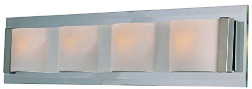 - Lite Source LS-16794PS/FRO Garvin Wall Lamp, Polished Steel with Frosted Glass Shade
