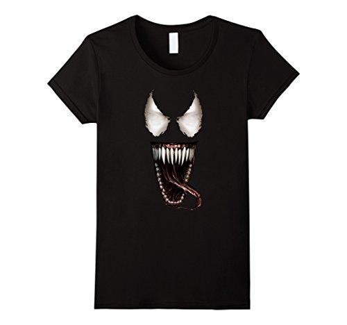 Womens Venom Tongue Graphic T-Shirt Medium