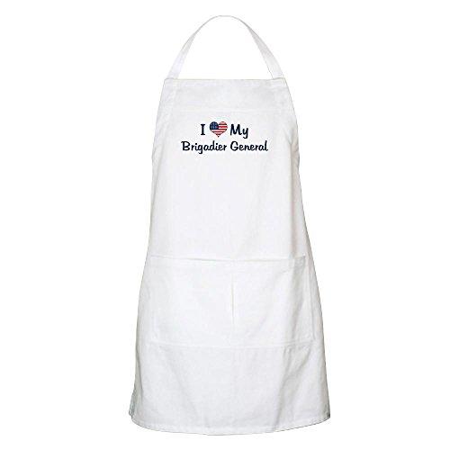 r General: Flag Love BBQ Apron - Kitchen Apron with Pockets, Grilling Apron, Baking Apron (Brigadier General Flag)