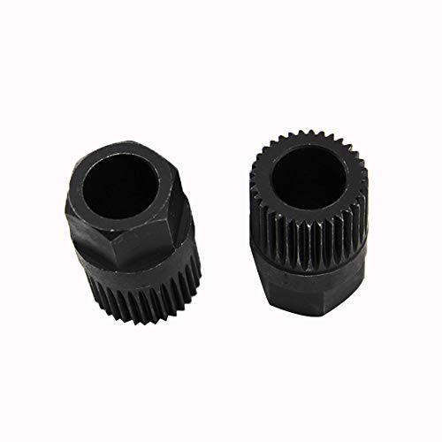YUSHHO56T Alternator Pulley Removal Tool Maintenance Tools 33 Teeth Alternator Freewheel Pulley Removal Tool for VW Audi Mercedes Benz - Black ()