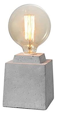 "Crystal Art 111114 4.75""x4.75""x7.09"" Concrete Finish Cement Table lamp"