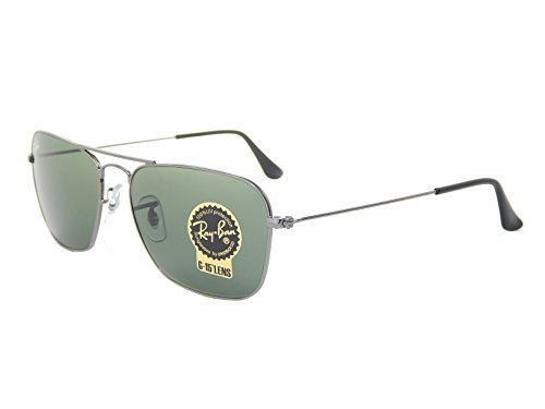 Ray Ban Caravan RB3136 004 Gunmetal/Green Classic G-15 Sunglasses - Rb3136 Ray Caravan Ban
