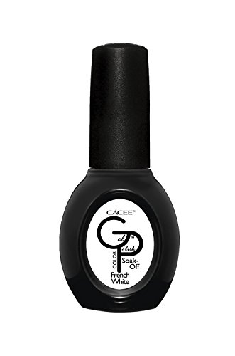 French Manicure Gel Nail Polish Color, GP French White, Professional Color Lacquer by Cacee 222 0.5 fl oz