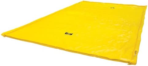 Justrite Manufacturing Company LLC 28426 - Maintenance Spill Berm - PVC coated fabric, Yellow, 126 in Wide, 222 in Long