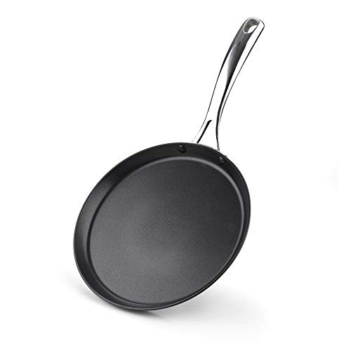 Cooks Standard 02637 Nonstick Hard Anodized 9.5-inch 24cm Crepe Griddle Pan, Black