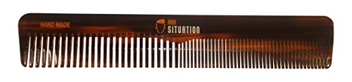 Hair Situation Detangling Hair Comb – Wide Tooth, Durable & Lightweight for Hair, Beard & Mustache. Oversized Styling Comb for All Hair Types. Handmade Tortoise Shell - Most Styles Beard Popular And Mustache