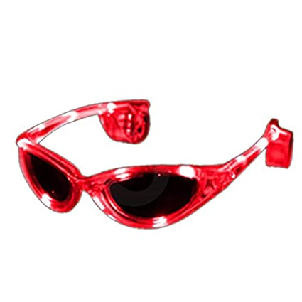 Amazon.com: LED rojo anteojos de sol: Sports & Outdoors