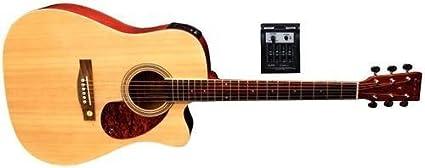 Tenson F501320 - Guitarra electro-acústica D-10CE, color natural