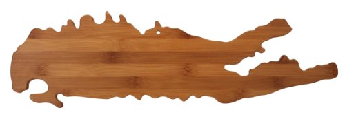 Totally Bamboo State Cutting & Serving Board, Long Island - New York, 100% Bamboo Board for Cooking and Entertaining (Beach Island Ny Long)