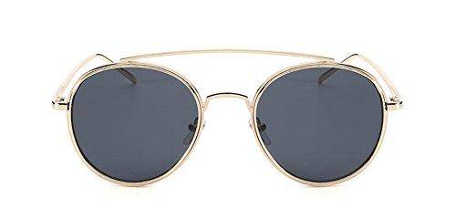 Film soleil polarisées de inspirées style Noir en rond métallique Lennon retro du cercle vintage lunettes Ow1nx