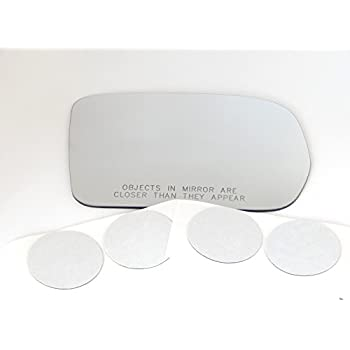 w//Silicone also Plug-in Fits 10-15 Prius Left Driver Heated Mirror Glass Lens