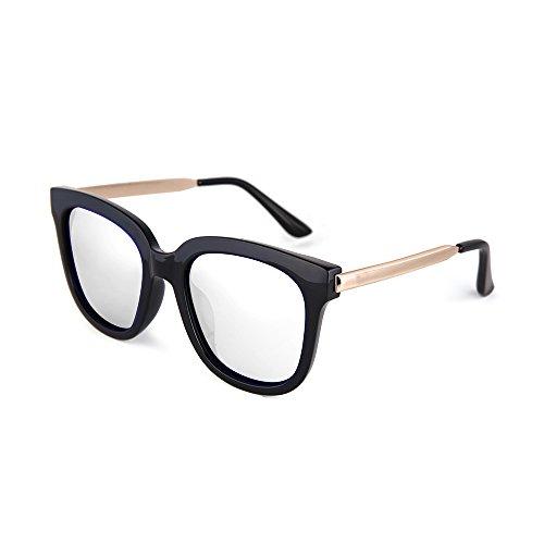 Color YANJING para de Pantalla y Mismo 2 para Retro Gafas con el Hombre Drive Párrafo de 2 Sol Gafas HD Color Mujer Sol Espejo rqqRtn