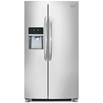 Frigidaire FGHC2331PF Gallery 22.6 Cu. Ft. Stainless Steel Counter Depth Side-By-Side Refrigerator - Energy Star