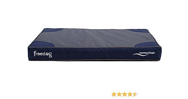 Freedog FD1000387 - Colchón viescoelastico, para Perro, Color Azul: Amazon.es: Productos para mascotas
