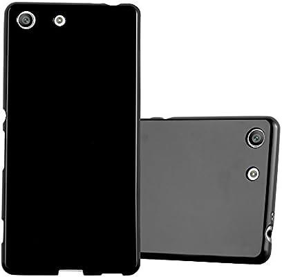 Cadorabo Funda para Sony Xperia M5 en Jelly Negro: Amazon.es ...