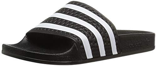 Price comparison product image adidas Originals Adilette Sandal,  White / Black,  3 M US Little Kid