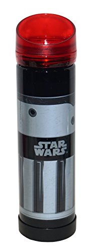 UPC 707226792909, Zak! Designs Tritan Plastic Red Light Saber Water Bottle with Screw-on Lid, BPA-free and Break Resistant, Inspired by Darth Vader's Light Saber from Star Wars, 21.5oz