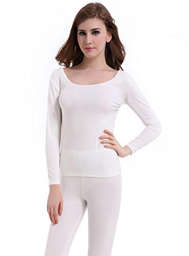 CnlanRow Thermal Underwear Women Long Base Layer Winter -Ultra Thin Set Bottom Pajama (Womens Lightweight Long Underwear)
