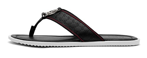 OPP Casual Men leather Flip Flops Flat Sandals Black 3G411