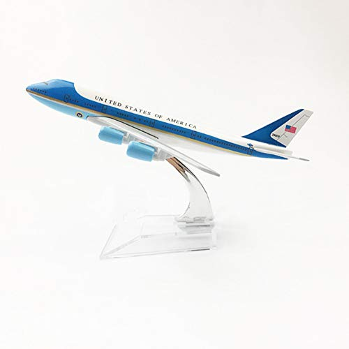 (Marreto 1/400 Scale Alloy Aircraft Boeing 747 Air Force One 16Cm Alloy Plane B747 Model Toys Children Kids Gift for)