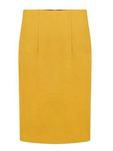 CHARLES RICHARDS CR Women's High Waist Knee Length Pencil Midi Skirt Slim Fit Business Skirt Charles Street Tall Boots