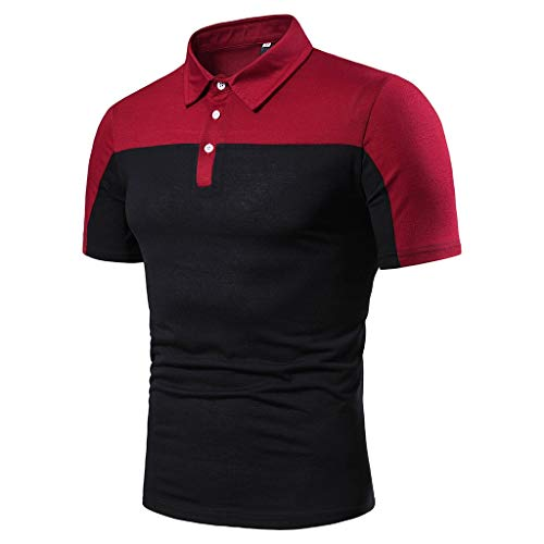 Men's Golf Polo Shirt,MmNote Workout Shirt Moisture Wicking Performance Active Performance Sports Button Black -