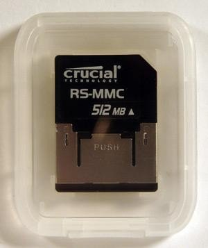 Crucial RS-MMC Reduced Size MMC Memory Card (Pack Of 2)