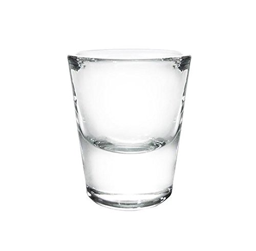 BarConic 1 oz Thick Base Clear Shot Glass (Pack of 12)]()