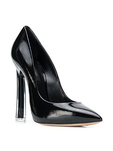 Cuero Zapatos 1f331k120xrain000 Mujer Casadei Negro 04H7t78