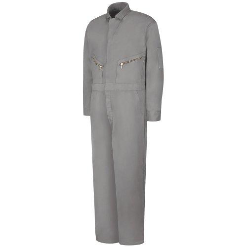 Red Kap Uniforms Men's Zip-Front Cotton Coverall, Grey, 58