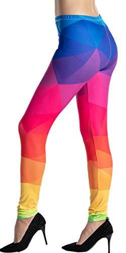 Ndoobiy Women's Printed Leggings Full-Length Regular Size Workout Legging Pants Soft Capri L1(D CT OS)