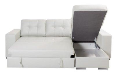 Corner Sofa Bed with Reversible Chaise Longue NOLAN Polyurethane ...