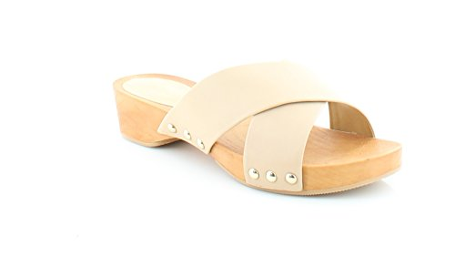 Wooden Slides Sandals (BCBGeneration Women's BG-Soho Dress Sandal, Tan, Size 7.0)
