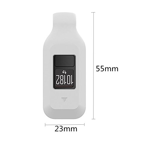 Bemodst® Schutzhülle für Garmin Vivofit 3/Vivofit JR mit Clip-Halterung, Silikongummi magnetischer Clip weiß