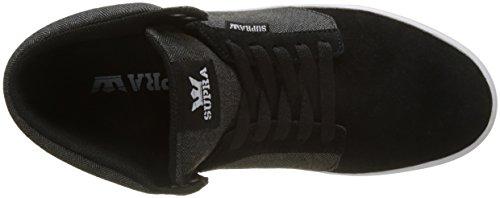 Supra Yorek Hi, Sneaker Alte Unisex - Adulto Nero (Schwarz (Black - White Bkw))