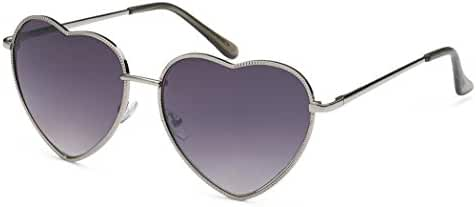 Metal Heart Shaped Frame Retro Women's Fashion Sunglasses