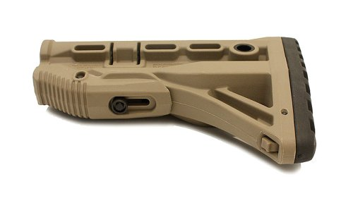 Mako M4/AR-15 Stock with Internal Shock Absorber (Tan), Outdoor Stuffs