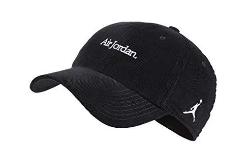 191a5c742e4 Nike Unisex H86 Jordan Corduroy Strapback Hat Black/White AA5744-010