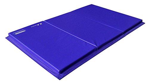 Z Athletic Gymnastics Amp Exercise Folding Mat Purple 4ft