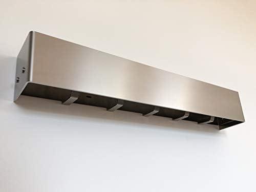 ML+ - Perchero de pared de diseño prémium con ganchos ocultos y estante, de acero inoxidable de alta calidad, práctico y multifuncional, para colgar ropa, perchero, vestíbulo, moderno: Amazon.es: Juguetes y juegos